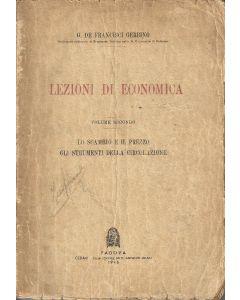 LEZIONI DI ECONOMICA Volume Secondo di G. De Francisci Gerbino