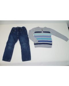 COMPLETO JEANS + PULLOVER